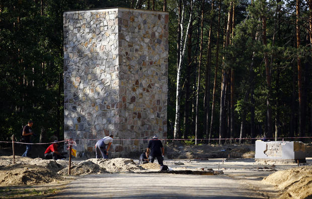Gas chambers unearthed at Nazi death camp