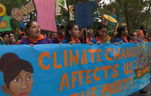 Climate change demonstrations around the world urge action on new global treaty