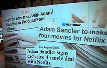 Adam Sandler to release four movies to Netflix