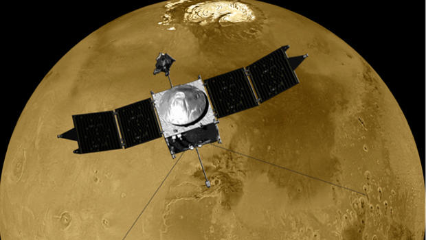 New Mars orbiter healthy, on track for climate study - CBS ...