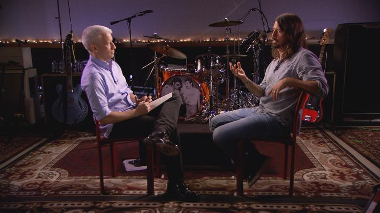 Dave Grohl and Anderson Cooper