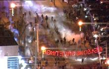 Tear gas in the streets of Ferguson, Mo
