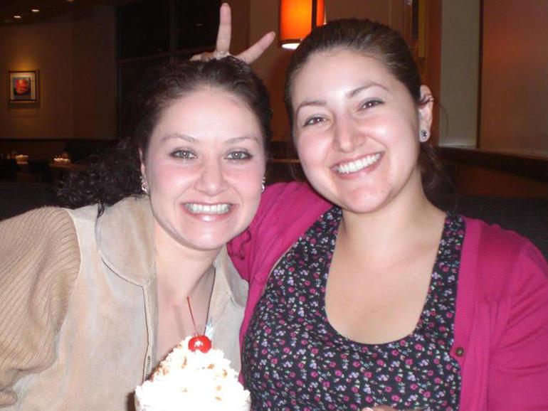 Karla Mendez Brada and her sister, Sasha