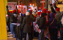 Fast food workers protest for higher minimum wage