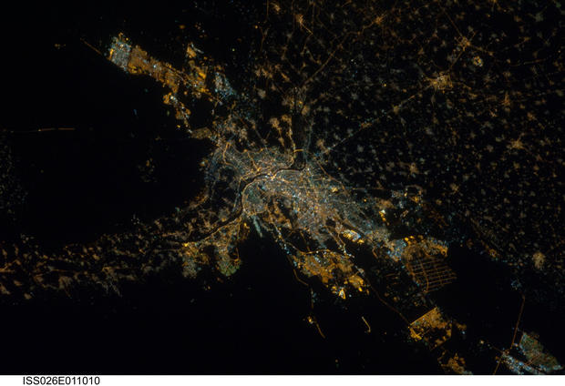 City lights from space