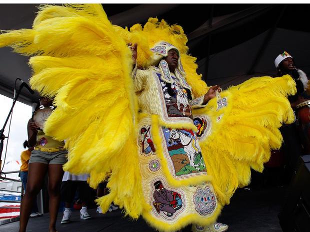 首席铁马和黑色塞米诺尔狂欢节印第安人