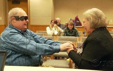 New glasses help blind man see his wife again