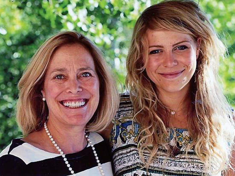 Nancy Pfister with her daughter, Juliana