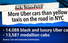 Uber now outnumbers Taxis in New York City