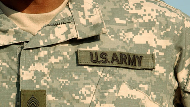 The U.S. Army's new army combat uniform is displayed Feb. 8, 2005, at Fort Stewart, Georgia.