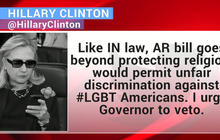 Hillary Clinton weighs in on Indiana and Arkansas religious freedom legislation