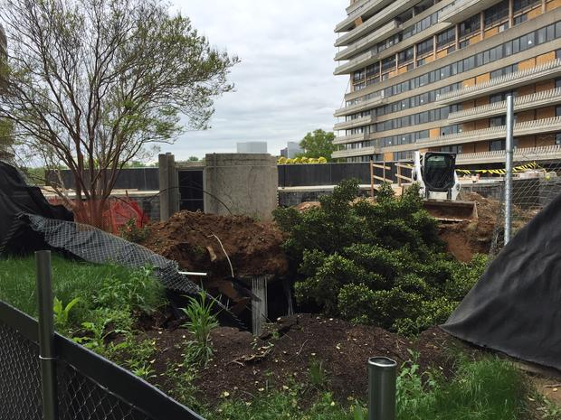 Watergate parking structure collapses