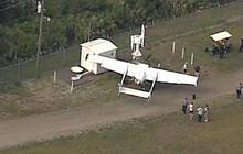 Pilot arrested after crash