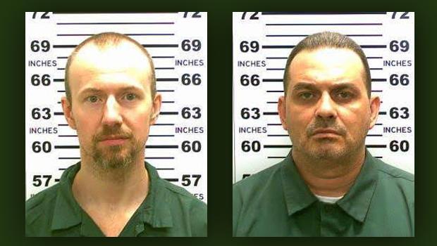 2015年6月6日纽约州警方提供的照片组合中可以看到David Sweat,左和Richard Matt。