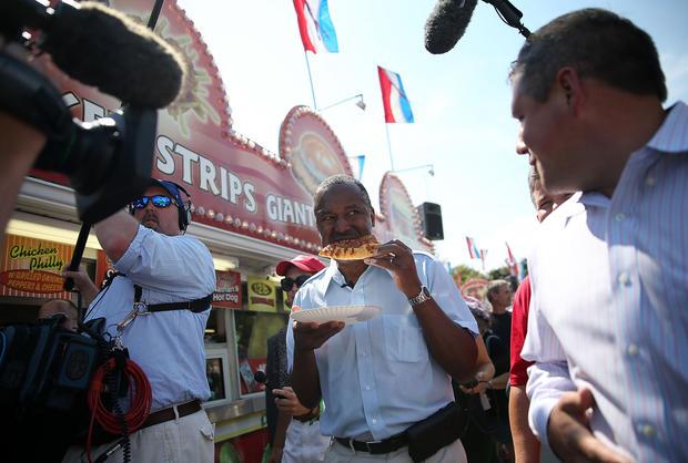 2016 White House hopefuls at the Iowa State Fair