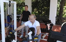 Vladimir Putin doing manly things