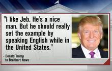 Trump slams Jeb Bush for speaking Spanish