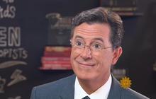 Stephen Colbert and Mo Rocca riff on Sondheim