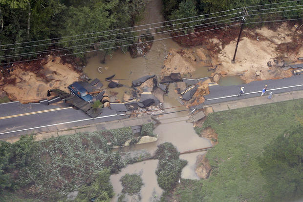 """Thousand year"" flooding in South Carolina"