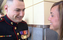 "Wounded Marine gets his ""proper"" homecoming"