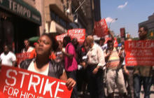 Thousands of fast food workers strike for higher pay