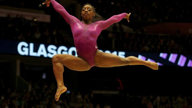 U S Gymnast Earns Record World Championship Gold Medals