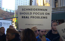 "Fans of fantasy sports sites protest New York AG's ""cease and desist"" order"