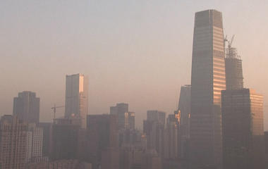 Time lapse video shows Beijing smog lifting