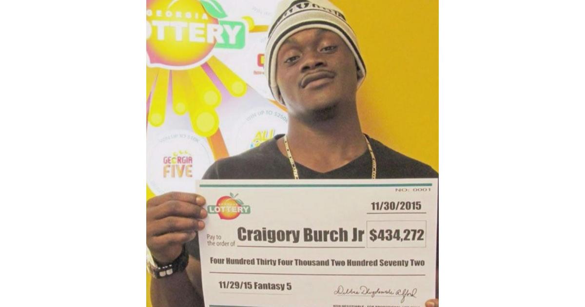 Craigory Burch Jr Georgia Lottery Winner Murdered