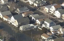 New Jersey shore bombarded by storm surge
