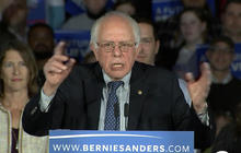 Bernie Sanders addresses supporters after Iowa caucuses