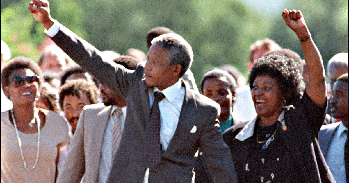 Feb 11th 1990 Nelson Mandela Released From Prison Cbs