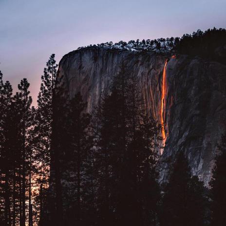 "Yosemite's spectacular ""firefall"""