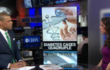 Diabetes cases have quadrupled since 1980