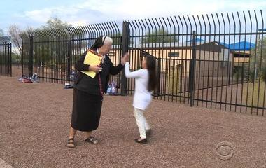 Arizona nun helps children tackle plumpness