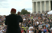 Trump speaks at Rolling Thunder biker rally in D.C.