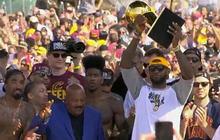LeBron James' victory rally speech
