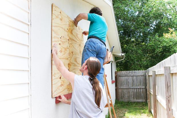 Preparing house for hurricane