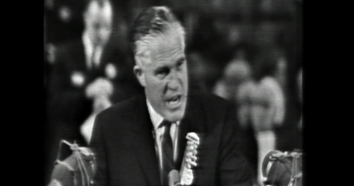 George Romney addresses 1964 Republican convention