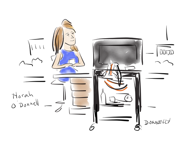 """Political cartoonist captures """"CBS This Morning"""" at Democratic convention"""