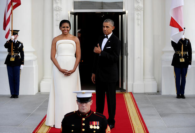 michelle obama in a versace gown