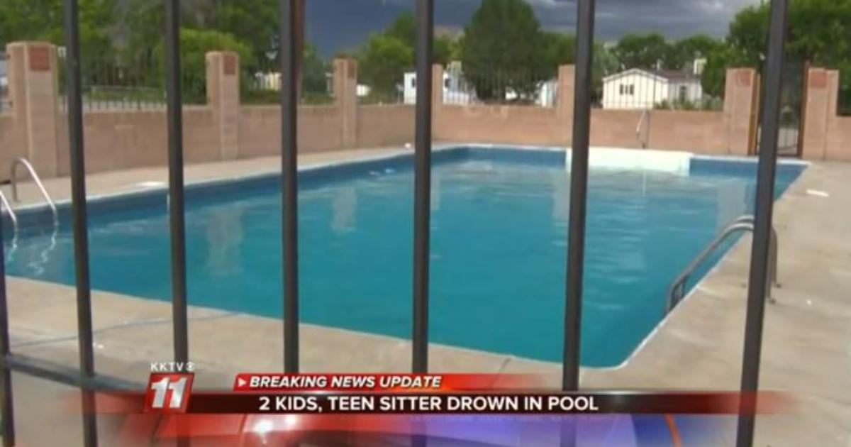 Two Young Sisters Their Babysitter Drown In Colorado Pool Cbs News