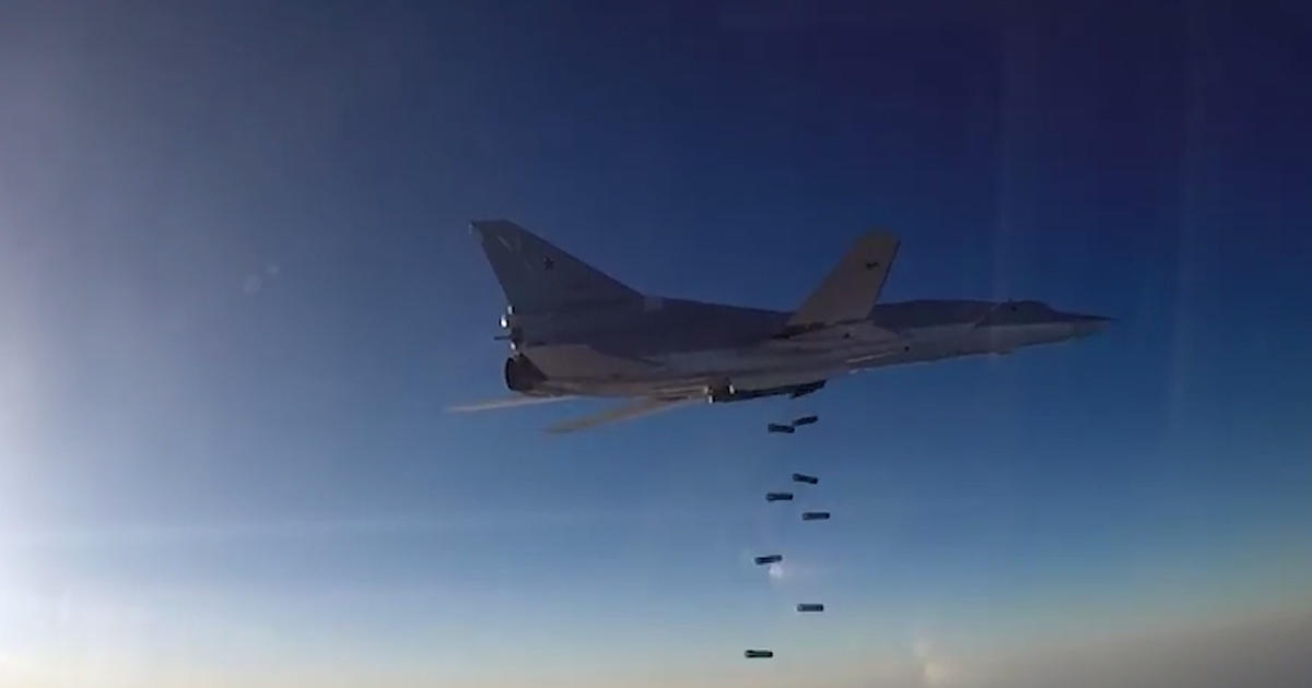 russia flying range bombers for syria airstrikes from iran cbs news