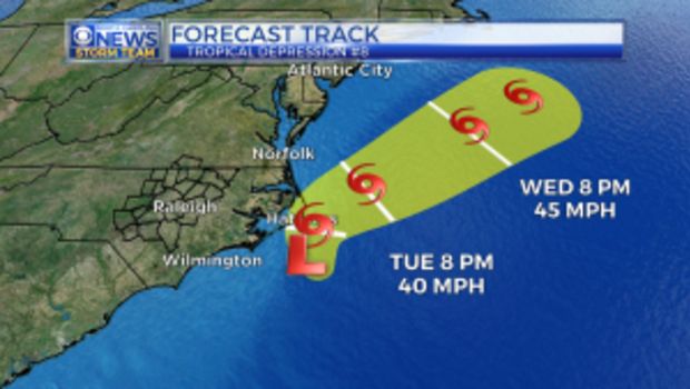 Tropical Depression 9 expected to become tropical storm later Wednesday