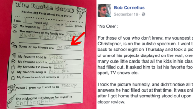 Dad's post leads to outpouring of support for autistic boy