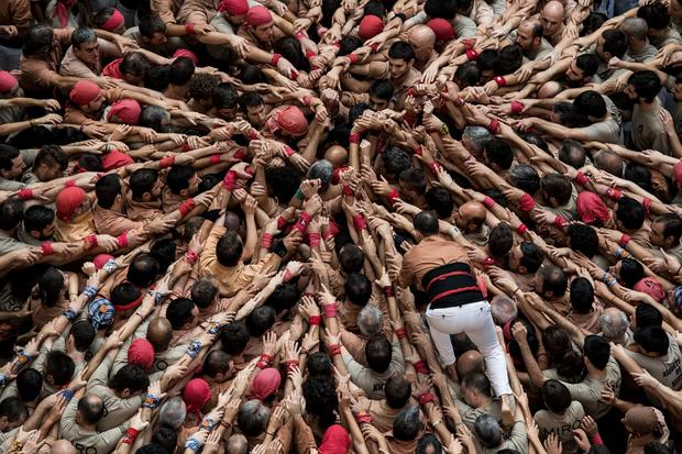 Spain's human castle competition