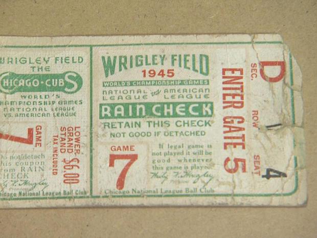 芝加哥小熊队,1945年世界系列,ticket.jpg