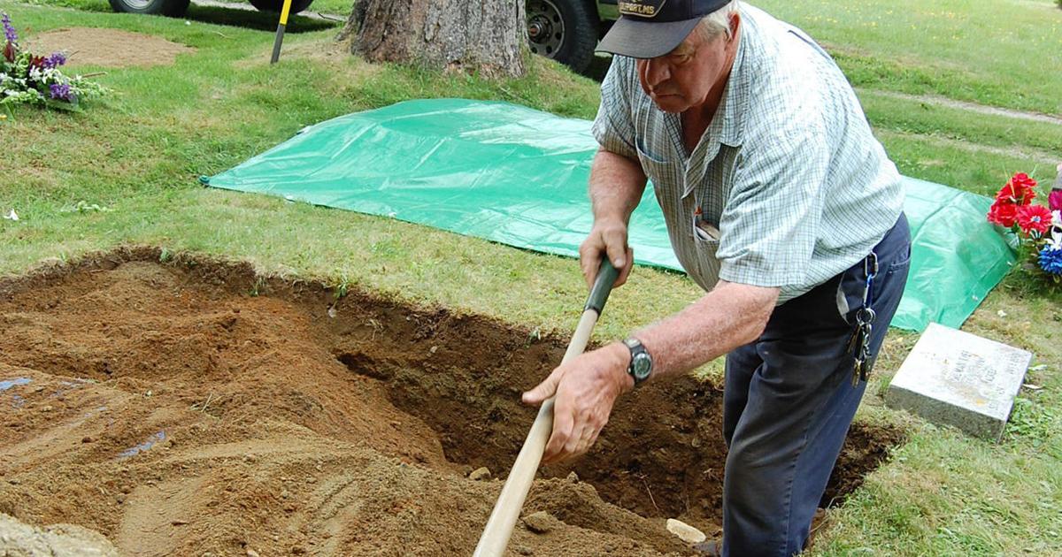 an old-school gravedigger plies his trade