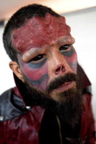 Shocking face tattoos