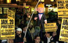 Demonstrators across U.S. protest against President-elect Trump